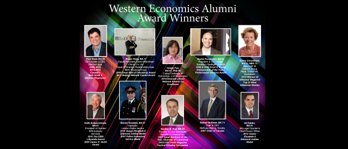 Western Economics Alumni Award Winners